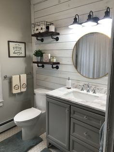 farmhouse bathroom decor ideas will go with any home design 48 . gorgeous farmhouse bathroom decor ideas will go with any home design 48 . Downstairs Bathroom, Bathroom Renos, Bathroom Interior, Master Bathroom, Budget Bathroom, Small Bathroom Ideas On A Budget, Half Bathroom Remodel, Dyi Bathroom, Small Bathroom Decorating