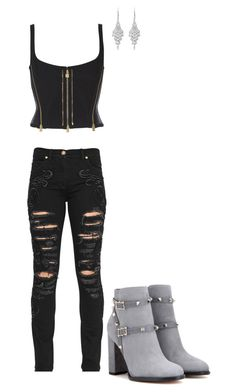 """Untitled #38"" by wolfcupcake on Polyvore featuring Versace, Valentino and Allurez"