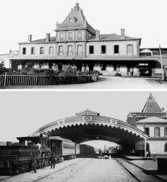Antigua estación de trenes de Concepción, destruida en el terremoto de 1939