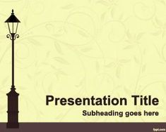 City Lantern PowerPoint Template