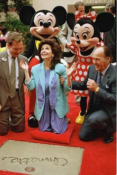 Annette Funicello being honored with the Desney Legend Award Oct 21, 1992