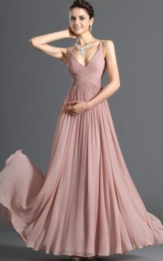 Etui klassisches Abendkleid/ Partykleid mit natürlicher Taille mit V-Ausschnitt - Emodeshop.de