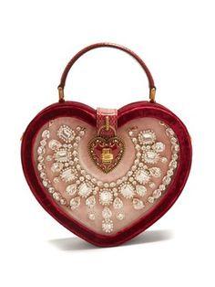 76f5cb6f76 Crystal-embellished heart-shaped bag by Dolce  amp  Gabbana Dolce   Gabbana