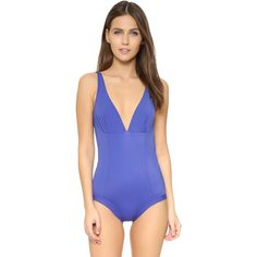 Zero Maria Cornejo Rei Swimsuit ($340) ❤ liked on Polyvore featuring swimwear and one-piece swimsuits