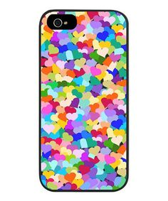 Loving this Rainbow Confetti Hearts Case for iPhone 5/5s on #zulily! #zulilyfinds