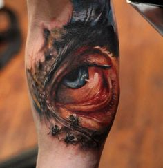 3D Tattoo of insect eye  - http://tattootodesign.com/3d-tattoo-of-insect-eye/  |  #Tattoo, #Tattooed, #Tattoos