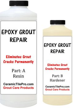 Epoxy Grout Repair Kit 6 oz. Fixes all types of grout cracks permanently. $19.99 plus shipping