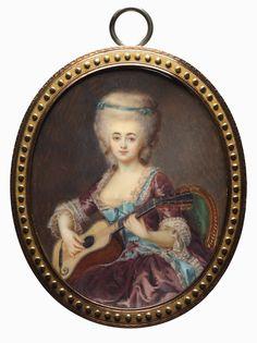 Louise D'Aumont, Mazarin, Duchesse d'Aumont, fourth quarter 18th century by Antoine Vestier (1740-1824) (Cleveland Museum of Art)