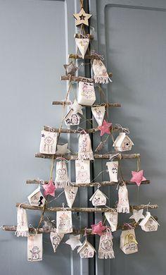 Advent Calendar - stamps the elves' company Christmas Calendar, Winter Christmas, Christmas Holidays, Christmas Crafts, Christmas Decorations, Xmas, Advent Calenders, Diy Advent Calendar, Homemade Advent Calendars