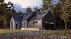 QUELQUES MAISONS MÉTISSES… – Adornetto Farmhouse Architecture, Modern Farmhouse Exterior, Lac Champlain, Gable Roof, My Dream Home, Cottage, Houses, Cabin, House Styles