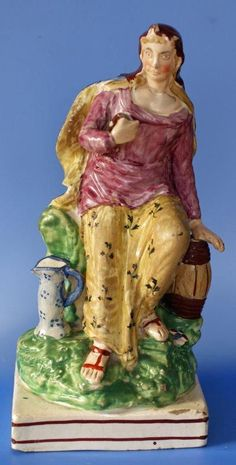 Antique British Pearlware Staffordshire Pottery Figure