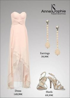 Anne-Sophie SMARTSHOPPING Anne Sophie, Strapless Dress Formal, Formal Dresses, Dress And Heels, Wedding Inspiration, Wedding Ideas, Dress To Impress, Pretty In Pink, Anna