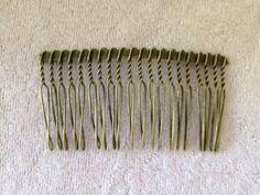 Antique Bronze Hair Comb Hair Part Findings