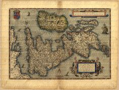 Map Of Scotland England Ireland From The 1500s by phraseandfable, $4.50