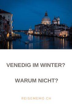 Venedig ist mmer einen Besuch wert. Die Lagunenstadt hat im Winter einen ganz besonderen Zauber, der niemanden kalt lässt. Taj Mahal, Mansions, House Styles, Building, Winter, Travel, Europe, Venice, Cold