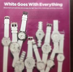 White On! Our New Lady Dive Master as seen in Lucky Magazine