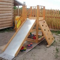 Kids Yard, Backyard For Kids, Backyard Ideas, Indoor Playset, Playhouse With Slide, Diy Slides, Outdoor Play Areas, Outdoor Activities For Kids, Kids Play Area