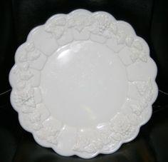 """Elegant, Signed, Paneled Grape Dinner Plate, 10½"""". $9.94 at ray.hoover on ebay, 9/8/15"""