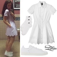 Lorde: Scalloped Shirt Dress - love this all white trend for spring and summer