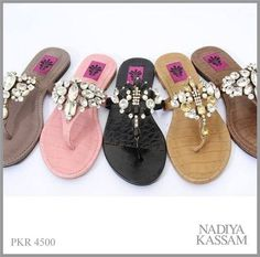 d6fc99de6 Nadiya Kassam Summer Footwear Collection 2014 For Women Pakistani  Designers