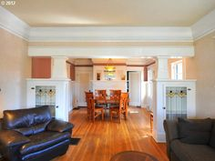 Bungalow Interior Room Division With Built Ins And Columns