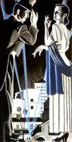 """ Lady + Gentleman "" Acryl +Softpastel  50 x 70 cm"