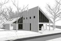 House Viewing, Barn Houses, Modern Houses, Back Gardens, Prefab, House Rooms, Bungalow, House Plans, Villa
