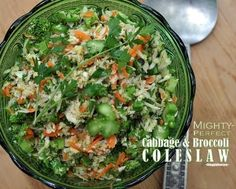 Mighty Perfect Cabbage & Broccoli Coleslaw from Cook's Illustrated © A Veggie Venture. Calories 78, Weight Watchers PointsPlus 2. Low carb.