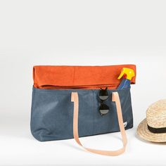 Tote Bag - navy russet