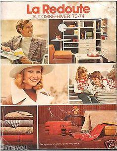 ▬► Catalogue LA REDOUTE Automne-Hiver 1973 / 1974  Mode Fashion Vintage Jouets