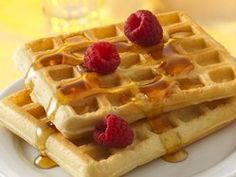 Bisquick Waffles- use buttermilk instead of regular milk, add 3 Tbs sugar, 1 tsp vanilla, and 1 tsp baking soda for more flavorful waffles!