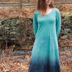 New Mountain Range dress in soft, American grown organic cotton.