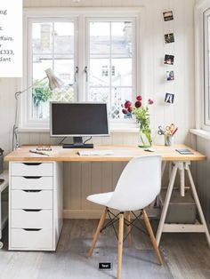 home office space - Home Office Inspiration Mesa Home Office, Home Office Space, Home Office Desks, Home Desk, Office Furniture, Office Workspace, Home Office Organization, Office Decor, Organization Ideas