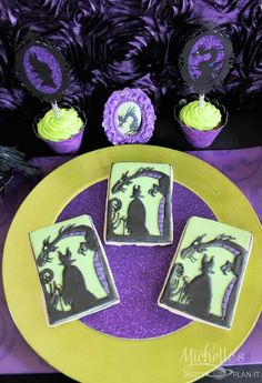 Maleficent Inspired Dessert Table via Kara's Party Ideas KarasPartyIdeas.com | Favors, games, cakes, printables, and more! #sleepingbeauty #disneysmaleficent #maleficentparty #partyideas #partydecor (16)