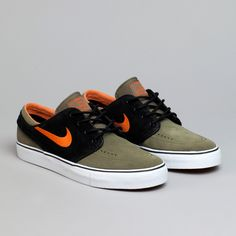 promo code 56432 2219b Flatspot - Nike Sb Stefan Janoski Medium Olive   Urban Orange Black-Gum  Light Olive