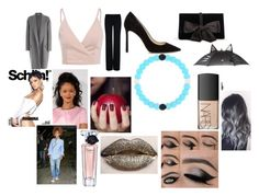 """""""Raining at a fashion show with Rihanna"""" by larryandtarillforeverr14 ❤ liked on Polyvore featuring STELLA McCARTNEY, CÉLINE, Jimmy Choo, Ann Taylor, claire's, NARS Cosmetics, Lancôme and Christian Dior"""