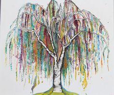 Tree Print of Original Watercolor Painting