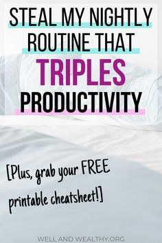 My Nightly Routine , Night Time Routine, Evening Routine, Routine Printable, Productivity Quotes, Work Productivity, Dealing With Depression, Before Sleep, Thing 1, Time Management Tips