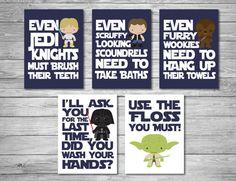 Star Wars Bathroom signs