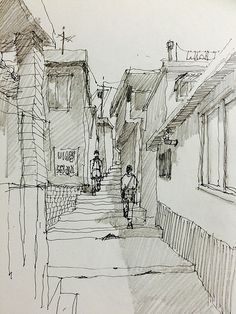 Pencil shadows sketches pencil drawings, urban sketching и s Cityscape Drawing, City Drawing, Architecture Sketchbook, Arte Sketchbook, Landscape Sketch, Landscape Drawings, Art Drawings Sketches, Pencil Drawings, Pencil Sketching