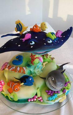 birthday cake little girl boy original idea amateur cartoons Nemo cake original design pies pies recipes dekorieren rezepte