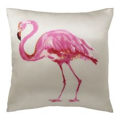 flamingo pillow from west elm