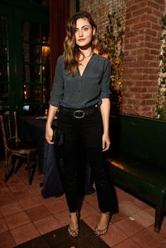 Phoebe Tonkin at Frame dinner NYFW on  September 11, 2016 #style #fashion