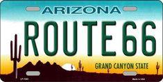 Route 66 Arizona, Tucson Arizona, Arizona State, Novelty Signs, Novelty License Plates, Licence Plates, Goodyear Arizona, Stickers, High Gloss