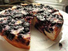 Super kevyt nektariini-mustikka juustokakku