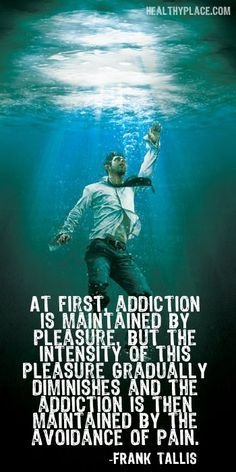 """Once the addiction takes over, it is no longer """"fun"""".  We have to continue to avoid the pain of withdrawals and what we were hiding from in the first place.  You DO have the choice to SAY NO."""