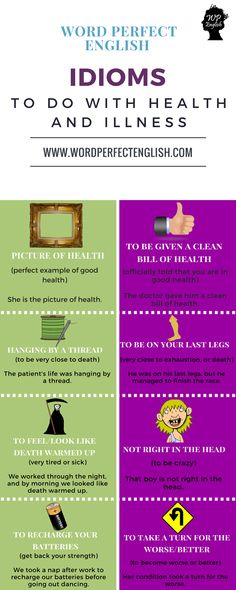 Idioms to do with Health and Illness