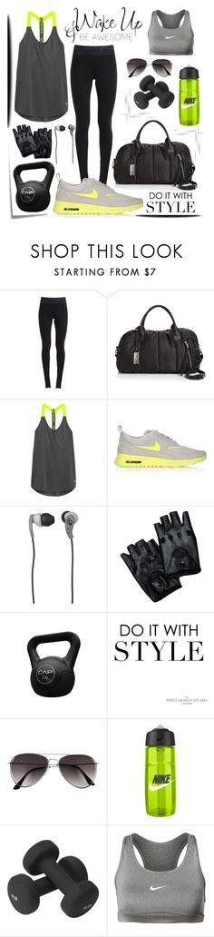 """STAY FOCUSED!!"" by itskellywilliams ❤ liked on Polyvore featuring NIKE, Sol & Selene, Post-It, Skullcandy, WALL, H&M and Valeo"