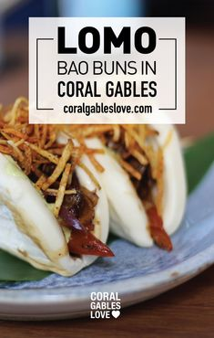 Lomo Saltado Bao Buns from 320 Gastrolounge in Coral Gables, Florida. Miami restaurants.