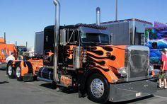Truck, Big, Peterbilt custom, truck show Custom Peterbilt, Peterbilt 379, Peterbilt Trucks, Big Rig Trucks, Show Trucks, Custom Big Rigs, Custom Trucks, Ranger, Black Truck